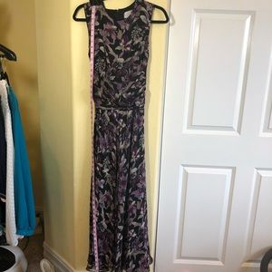 Adrianna Papell 10 Silk Flowing Maxi Floral NWOT